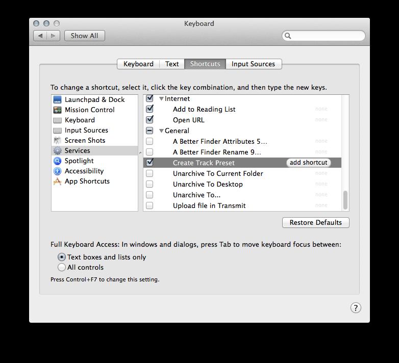Automator Services for Pro Tools (Mac) - Avid Pro Audio